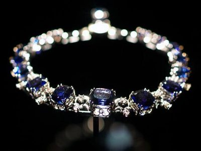 Tanzanite and white sapphire jewelry -the Jewelry Shopping Tour features a number of Tanzanite pieces